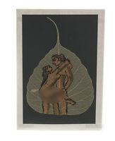 Carta Pittura Su Foglio Di Pipal Kamasutra 100% Fatto a Mano Peterandclo K186
