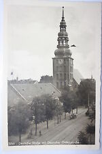 14354 AK TILSIT Ostpreußen Deutsche Straße mit Ordens Kirche 1938