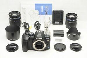 OLYMPUS EVOLT E-520 10.0MP Digital Camera Body w/ 14-42mm & 40-150mm #210917d