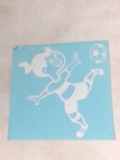 STICKY'S 5 YEAR VINYL DECALS - GIRL SOCCER PLAYER (23)