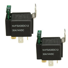 10pcs 12V/30A Car 4 Pin Normally Open Contacts Fused Relay On/Off with Bracket