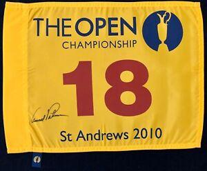 Arnold Palmer Signed St Andrews British Open Championship Golf Flag Autograph
