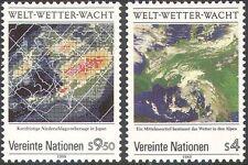 Nations Unies (V) 1989 Weather watch/Satellite images/cartes/Espace/OMI/OMM 2 V Set (n19333)