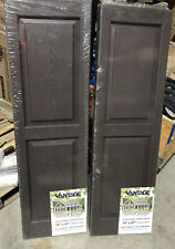 Vantage Solid Panel Vinyl Shutter 14 x 47 Chocolate Brown 2 sets of 2 per set.
