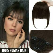 Fringe Hair Piece Clip in Hair Bangs with Hair Temples - 100% Real Remy Human Ha