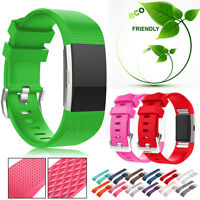 Fashion Sports Soft Silicone Bracelet Wrist Strap Band For Fitbit Charge 2 S/L