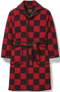 Filson x Pendleton Ltd. Blanket Robe Wool Blend Red Black, Men's S NWT MSRP $750
