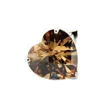 Adagio Jewels Ring - 925er Silber - großer cognac Herz Zirkonia - mit Etikett