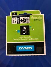 45800 Dymo D1 19mm Nastro Nero Clear Etichetta Cassetta S0720820 Nero Clear