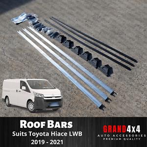3 x Roof Cross Bars Racks to suit Toyota Hiace LWB 2019 2020 2021 Van