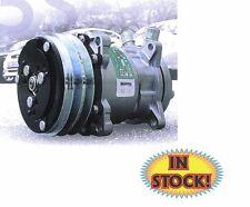 Sanden 508 V-Belt A/C Compressor R134a Plain Aluminum Case - SCV508