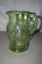 Vintage Depression Glass Pitcher in EXCELLENT condition green color