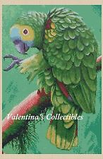 Green Parrot Counted Cross Stitch COMPLETE KIT No. 2-363