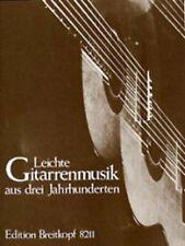 Trois Siècles De Guitare Pour Les Débutants - Leichte Gitarrenmusik Aus Drei Jah
