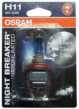 OSRAM H11 55 Watt 12 Volt PKW 64211NBU Night Breaker Lampe PGJ19-2 Birne 55W