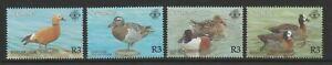 Seychelles 2001 Bird Life set SG 911-914 Mnh.