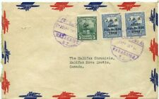 Venezuela airmail cover to The Cronicle Halifax Canada