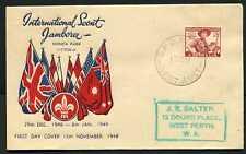 Australia 1948 Scout Jamboree - Fdc