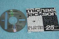 Michael Jackson Maxi-CD Black & White THE CLIVILLES & COLE REMIXES - 657598 9