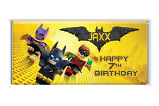 Batman Lego Personalised Chocolate Wrapper Gloss 4x6 to suit Aldi Chocolate Bars