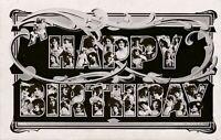 BIRTHDAY – Many Faces Art Nouveau Happy Birthday Postcard - 1907