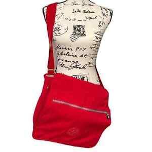 Kipling Madhouse Expandable Messenger Bag Red NWOT