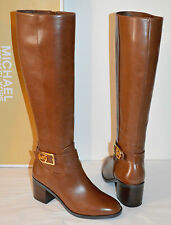 New $325 Michael Kors Bryce Boot Redwood Brown Leather Tall/Riding Boots sz 6