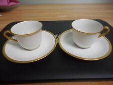 2 C. Ahrenfeld Wright Tyndale Van Roden Philadelphia Limoges Tea Cups & Saucers