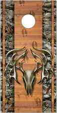 Tribal Buck Skull Camo Cornhole Wrap Bag Toss Skin Decal Sticker Wraps