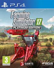 Farming Simulator 2017 Platinum Edition PS4 Playstation 4 IT IMPORT FOCUS