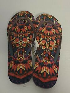 NWT Women's Live Love Dream Multi-Color Flip Flops Size 9 Style #5869 NEW