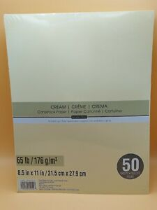 "Recollections ""CREAM"" Cardstock Paper 8.5"" x 11""  50 sheets NEW SEALED"