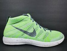 Nike Lunar Flyknit Chukka Mens Size 13 Shoes Electric Green Cool Grey 554969 011