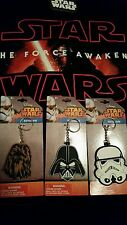 New Star Wars Darth Vader Stormtrooper Chewbacca Keychain Ring The Force Awakens