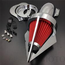 Cone Spike Air Cleaner Kit for Yamaha Vstar V-Star 650 all year 1986-2012 CHROME