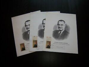 """SC 1503 LYNDON B. JOHNSON FIRST DAY COVER / ISSUE ON PICTURE """"CHOICE"""" FDC"""