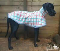'SNUGGLER' Designer Dog coat for Great dane, in stock ready to send