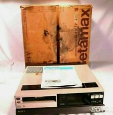 Sony Super Betamax Theater Sl-Hft7 with original Box no Remote works Read