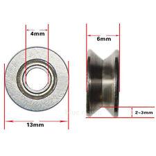 2 x 624VV V-Groove Sealed Ball Bearings Roulement à Billes 4 X 13 X 6mm 3mm Deep