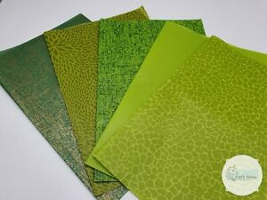 Decopatch Paper, Decoupage Paper GREEN Half Sheet Collection Pack