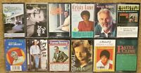 ♫ Lot of 12 Country Cassette Tapes Statler Bros, P Cline, C Lane, Kenny etc ♫