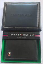 TOMMY HIL WALLET TRIFOLD HILFIGER MEN GENUINE Brown #4 LEATHER CREDIT CARD