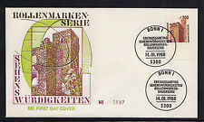 A 001 ) Germany 1988 FDC  - German Attractions  Hambach Castle   (UR)