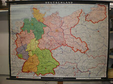 Wall Map Germany W GDR Ostgebiete 1964 128x99 Vintage Prussia