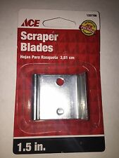 "NEW! (5 Qty) Double Edge Scraper Blade 1-1/2"" 16015"
