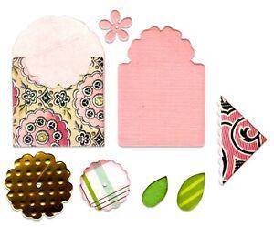 Sizzix Framelits Bookmark, Tag & Pocket 8pc set #662355 Retail $14.99 E. Hull