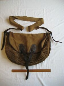 Vintage fishing or game bag in used condition