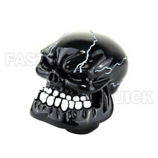 Black Skull Head Type Universal Car Truck Manual Gear Shift Knob Lever Shifter