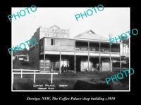 OLD LARGE HISTORICAL PHOTO OF DORRIGO NSW THE COFFEE PALACE BUILDING c1910