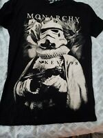 Preowned Star Wars Storm Trooper Black Monarchy Mens Vintage T-Shirt XL